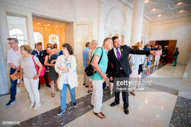 Public visit the summer opening of Noordeinde Palace on July 22 2017 in The Hague Netherlands Palace Noordeinde is the office of King WillemAlexander...