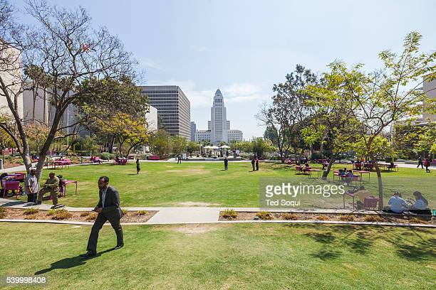 Public water use in the downtown area of Los Angeles In the middle of one of the worst droughts in California's history Los Angeles changes the way...