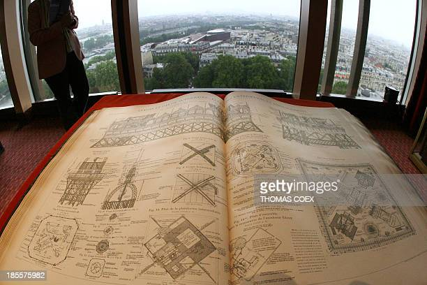 A publication 'The 300Meter Tower' by French engineer Gustave Eiffel builder of the tower is displayed 26 June 2006 at the Eiffel tower in Paris...