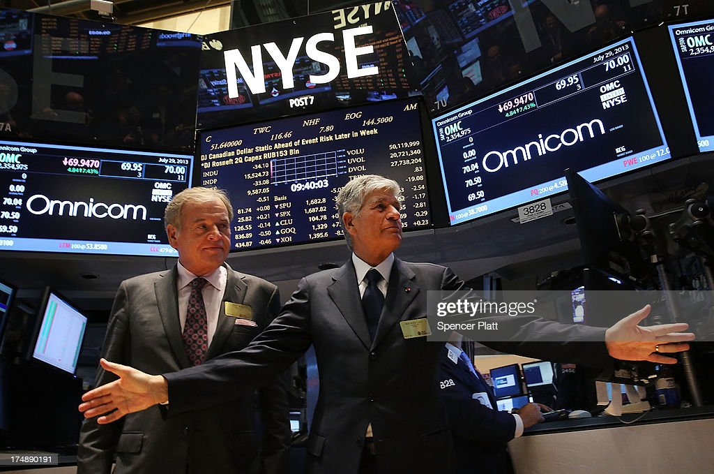 Omnicom And Publicis CEO's Visit NYSE After Merger Announcement
