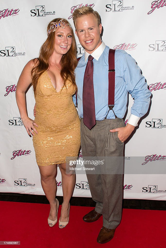 Publicisit Shannon Leigh Lenihan (L) and photographer Andrew Werner attend Johnny Weir & Victor Weir-Voronov's Birthday Celebration at Soho Grand Hotel on July 27, 2013 in New York City.
