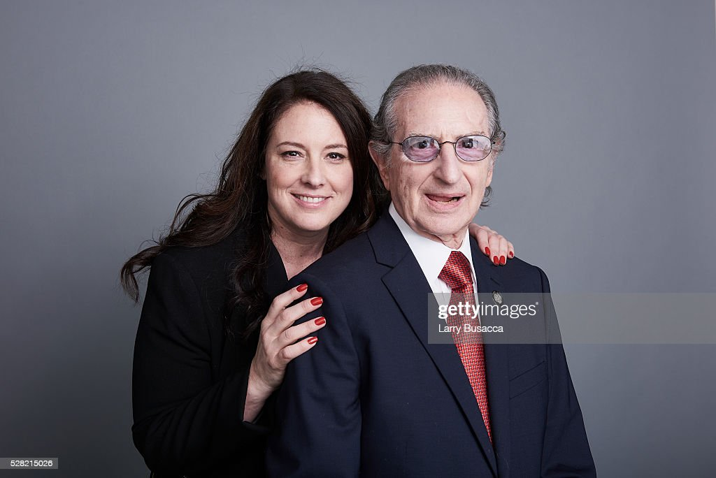 Publicist Amy Jacobs (L) and producer Sander Jacobs poses for a portrait at the 2016 Tony Awards Meet The Nominees Press Reception on May 4, 2016 in New York City.