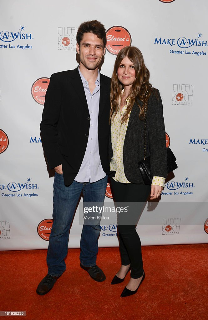 Publicist Drew Cardillo and music supervisor Joey Lauren Koch attend Elaine's Bakery And Cafe Celebrates Grand Opening At Brentwood Gardens on September 24, 2013 in Los Angeles, California.