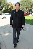 Publicist Edward Lozzi is seen at the memorial of attorney Peter Knecht on October 12 2014 in Los Angeles California