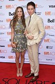 Publicist Hannah Bagshawe and actor Eddie Redmayne attend 'The Danish Girl' premiere during the 2015 Toronto International Film Festival at the...
