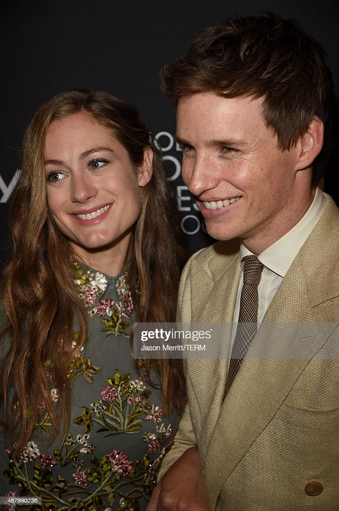 Publicist Hannah Bagshawe and actor Eddie Redmayne attend the InStyle & HFPA party during the 2015 Toronto International Film Festival at the Windsor Arms Hotel on September 12, 2015 in Toronto, Canada.