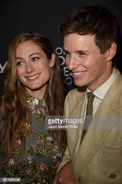 Publicist Hannah Bagshawe and actor Eddie Redmayne attend the InStyle HFPA party during the 2015 Toronto International Film Festival at the Windsor...
