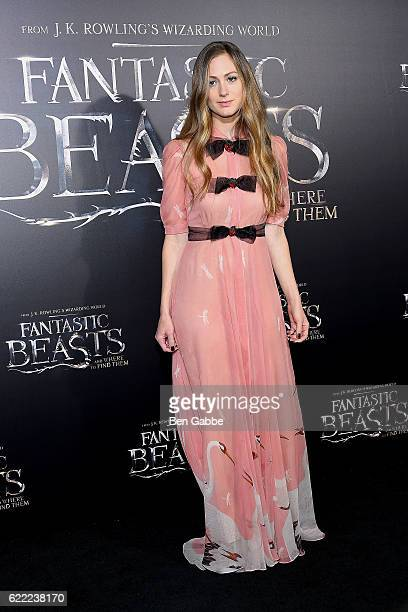 Publicist Hannah Bagshawe attends the 'Fantastic Beasts And Where To Find Them' World Premiere at Alice Tully Hall Lincoln Center on November 10 2016...