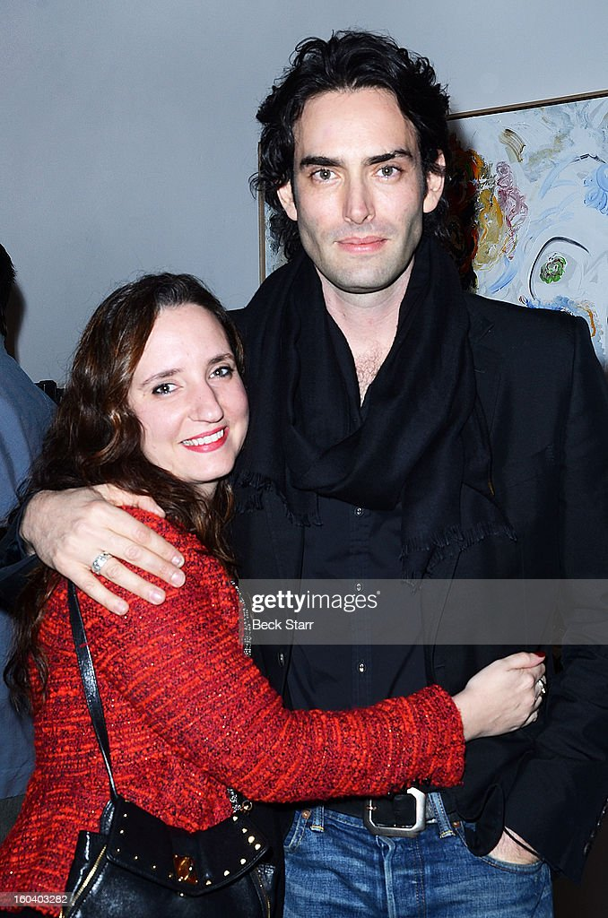 Publicist Jane Owen and artist Alexander Yulish attend his art exhibition and opening 'Interior Stories' at Gallery Brown on January 19, 2013 in Los Angeles, California.