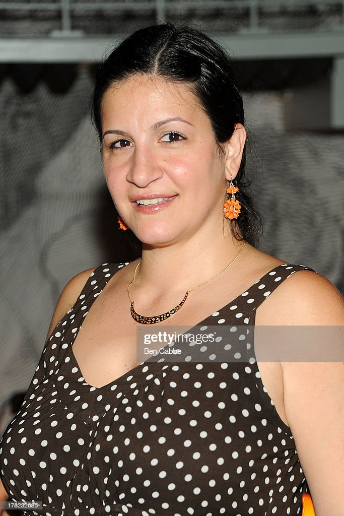 Publicist Jo Mignano attends the 'Puncher's Mark' Indiegogo Fundraiser Kick Off at Duane Park on August 27, 2013 in New York City.