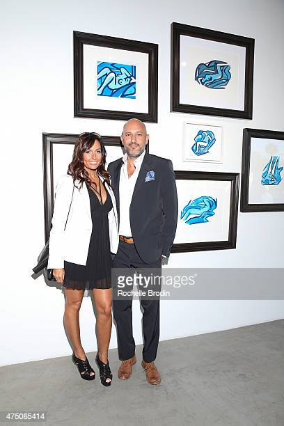 Publicist Keri Ann Kimball and gallery owner Steph Sebbag attend the 'Blue Nudes' exhibition at De Re Gallery on May 28 2015 in West Hollywood...