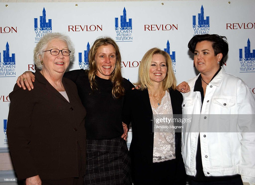 Publicist Lois Smith actress Frances McDormand AMC Networks President Kate McEnroe and television personality Rosie O'Donnell appear at the New York...