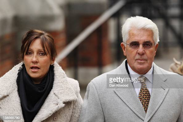 Publicist Max Clifford and his wife Jo arrive at the High Court to give evidence to the Leveson Inquiry on February 9 2012 in London England The...
