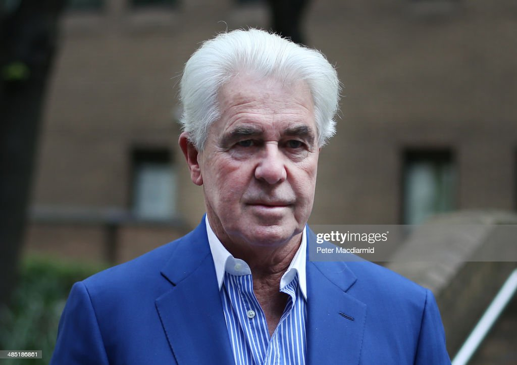 Publicist Max Clifford arrives at Southwark Crown Court on April 17 2014 in London England The jury has retired to consider the 11 charges of...