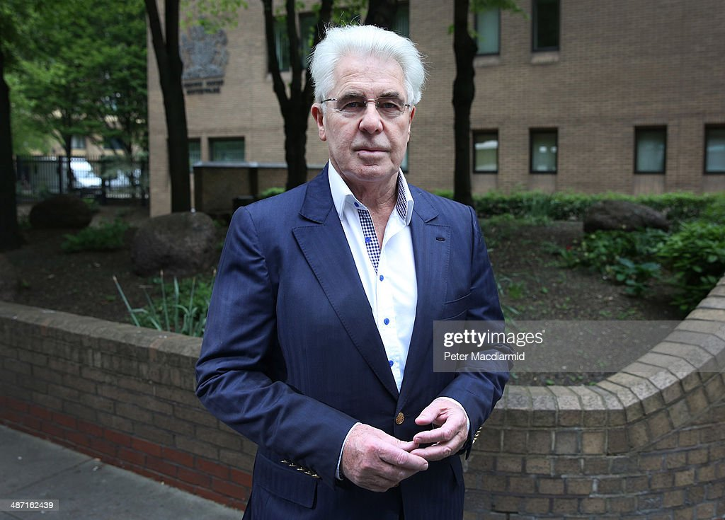 Publicist Max Clifford arrives at Southwark Crown Court on April 28 2014 in London England The jury enters its eighth day of deliberations on the 11...