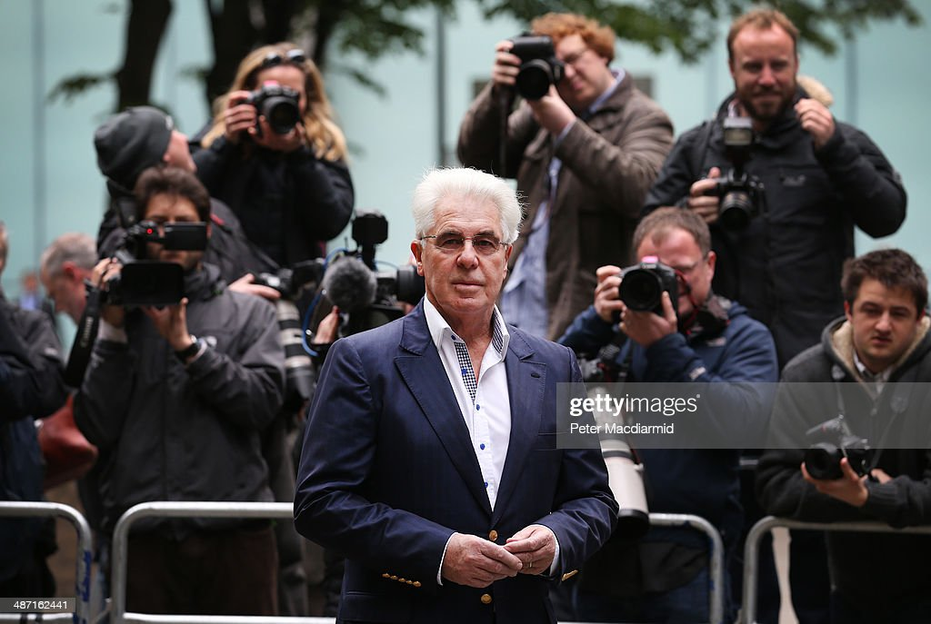 Publicist Max Clifford arrives at Southwark Crown Court on April 28, 2014 in London, England. The jury enters its eighth day of deliberations on the 11 charges of indecent assault against Mr Clifford.