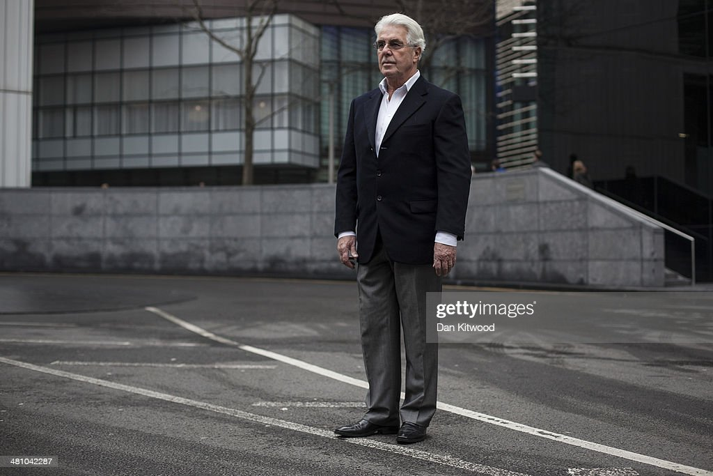 Publicist Max Clifford arrives at Southwark Crown Court on March 28, 2014 in London, England. Mr Clifford, a public relations expert, has pleaded not guilty to 11 charges of indecent assault.