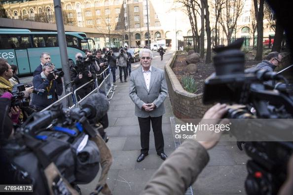 Publicist Max Clifford arrives at Southwark Crown Court on March 6 2014 in London England Mr Clifford a public relations expert has pleaded not...