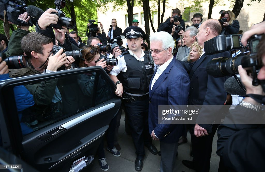 Publicist Max Clifford leaves Southwark Crown Court on April 28, 2014 in London, England. Max Clifford has been found guilty of eight counts of indecent assault and and not guilty of two of the charges brought against him.