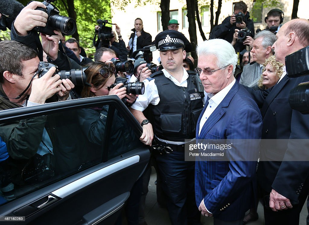 Publicist Max Clifford leaves Southwark Crown Court on April 28, 2014 in London, England. Mr Clifford has been found guilty of eight indecent assaults on women and girls as young as 15 by a jury at Southwark Crown Court.