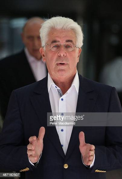 Publicist Max Clifford leaves Southwark Crown Court on April 28 2014 in London England Mr Clifford has been found guilty of eight indecent assaults...