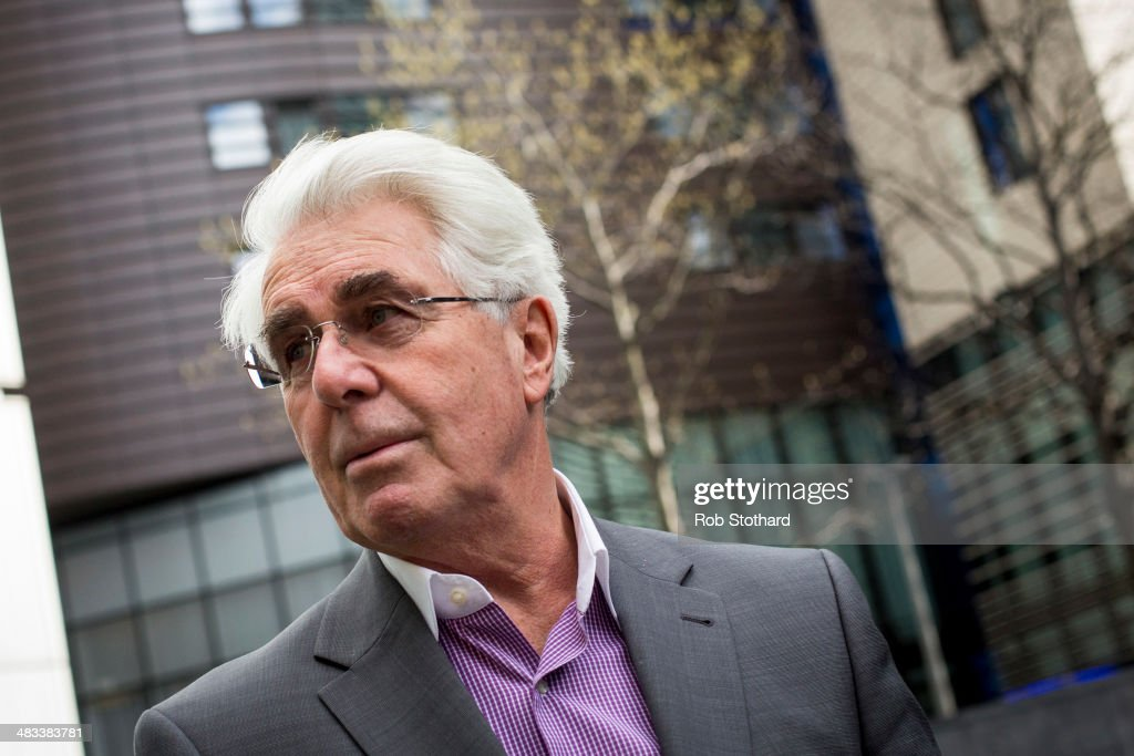 Publicist Max Clifford leaves Southwark Crown Court on April 8, 2014 in London, England. Mr Clifford, a public relations expert, has pleaded not guilty to 11 charges of indecent assault.
