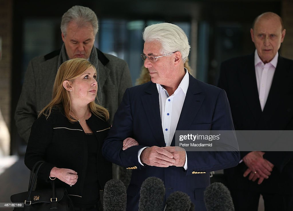 Publicist Max Clifford leaves Southwark Crown Court with daughter Louise Clifford on April 28 2014 in London England Max Clifford has been found...
