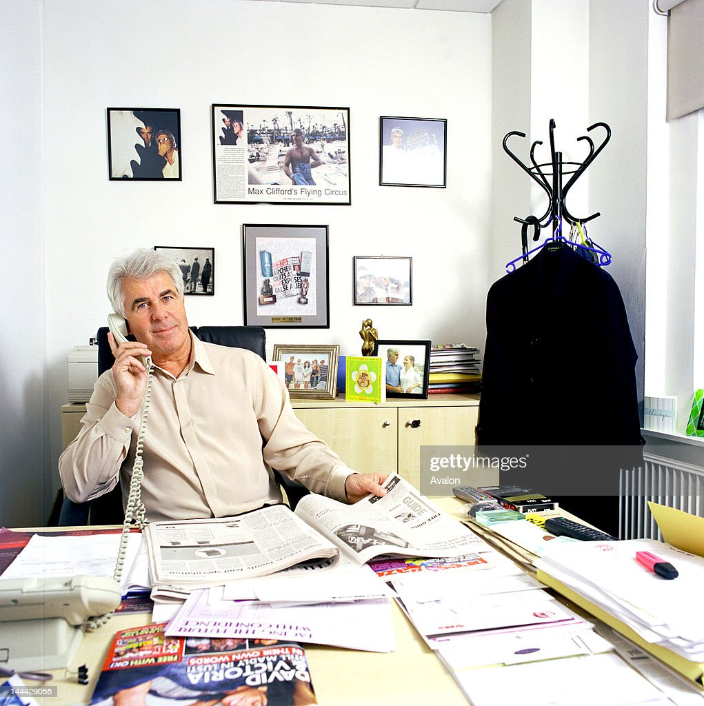Publicist Max Clifford photograhed in his office, 23rd January 2004.;