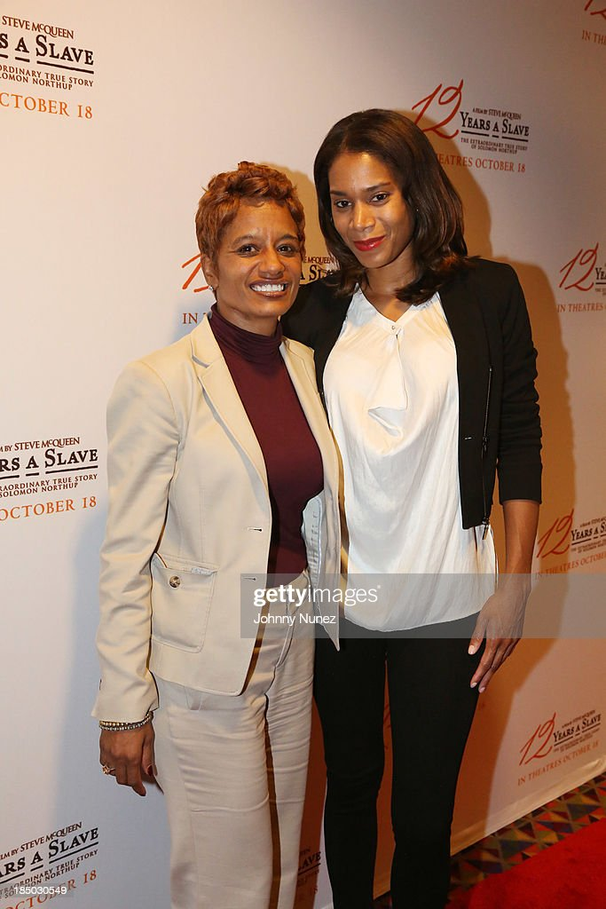 Publicist Rachel Noerdlinger and stylist Aisha McShaw attend the '12 Years A Slave' screening at AMC Empire 25 Theater on October 16, 2013 in New York City.