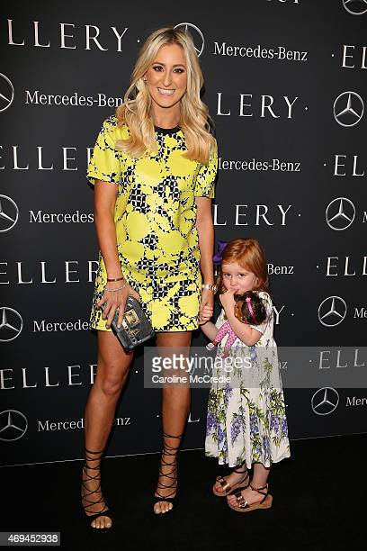 Publicist Roxy Jacenko and daughter Pixie Rose Curtis attend the MercedesBenz Presents Ellery show at MercedesBenz Fashion Week Australia 2015 at...