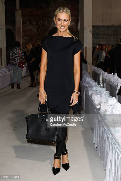 Publicist Roxy Jacenko attends the Ellery show during MercedesBenz Fashion Week Australia Spring/Summer 2013/14 at an offsite venue on April 9 2013...