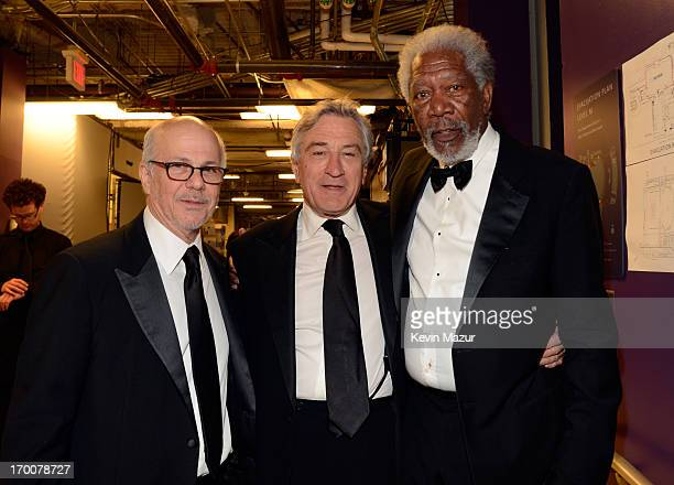Publicist Stan Rosenfeld and actors Robert De Niro and Morgan Freeman attend AFI's 41st Life Achievement Award Tribute to Mel Brooks at Dolby Theatre...
