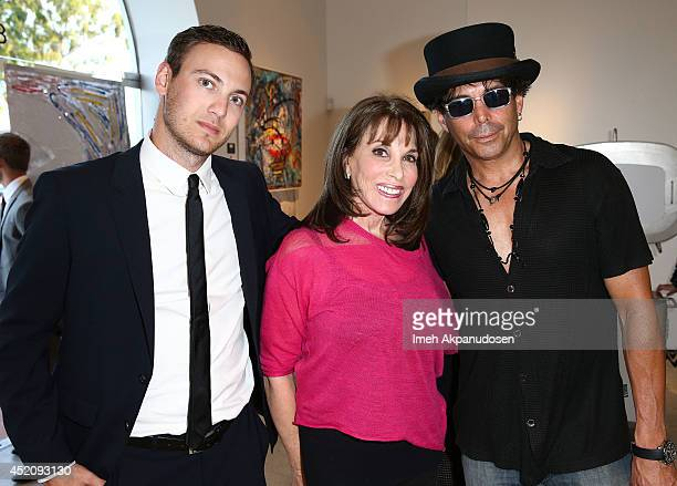 Publicist Zack Teperman actress Kate Linder and actor Richard Grieco attend a ZTPR Agency Summer Soiree at Gallerie Sparta on July 12 2014 in West...