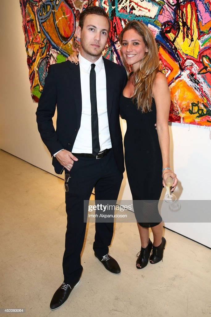 Publicist Zack Teperman (L) and Libby Gilbert attend a ZTPR Agency Summer Soiree at Gallerie Sparta on July 12, 2014 in West Hollywood, California.