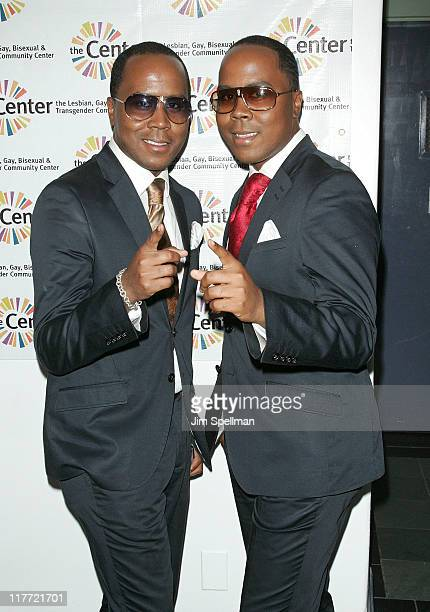 Publicists Antoine Von Boozier and Andre Von Boozier attend the Broadway Sings for Pride A Benefit Concert at the LGBT Center on June 27 2011 in New...