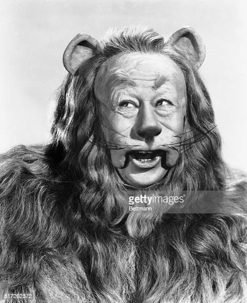 1939 Publicity handout of Bert Lahr American actor real name Irving Lahrheim as the Cowardly Lion from the 'Wizard of Oz' Head and shoulders portrait