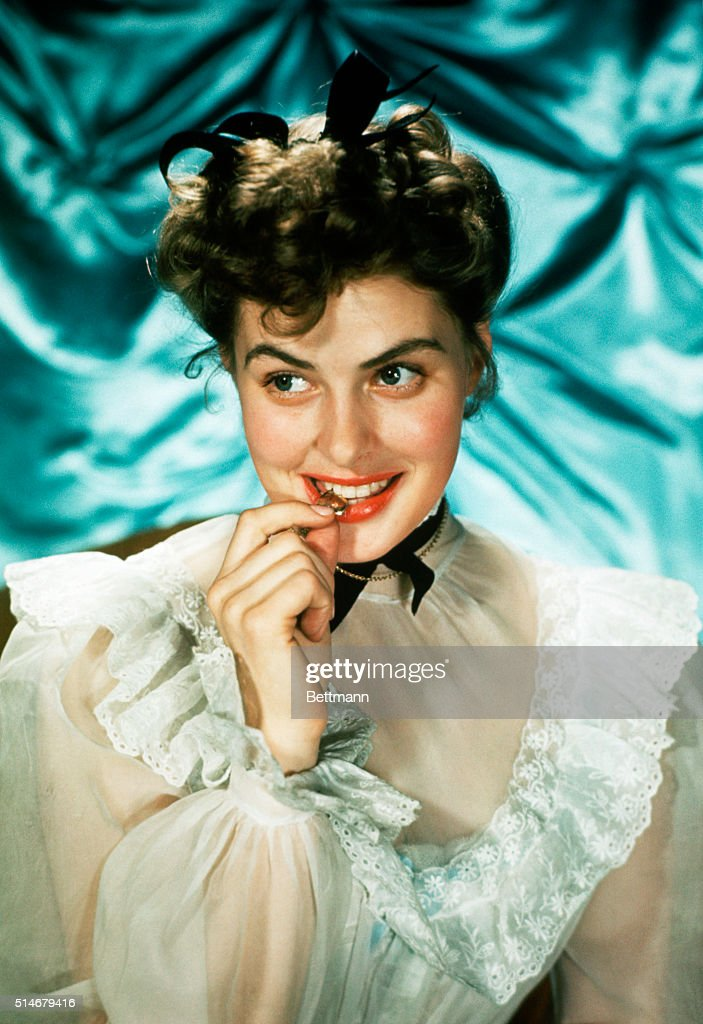 Publicity photo of actress <a gi-track='captionPersonalityLinkClicked' href=/galleries/search?phrase=Ingrid+Bergman&family=editorial&specificpeople=70003 ng-click='$event.stopPropagation()'>Ingrid Bergman</a>. Undated photograph.
