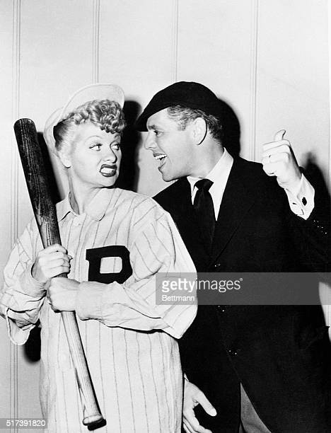 Publicity photograph of Lucille Ball and Desi Arnaz for their television program I Love Lucy
