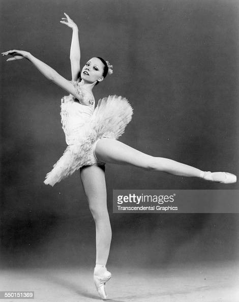 Publicity photographic print of American Ballet Theater's Amanda McKerrow posing on point New York New York early 1980s