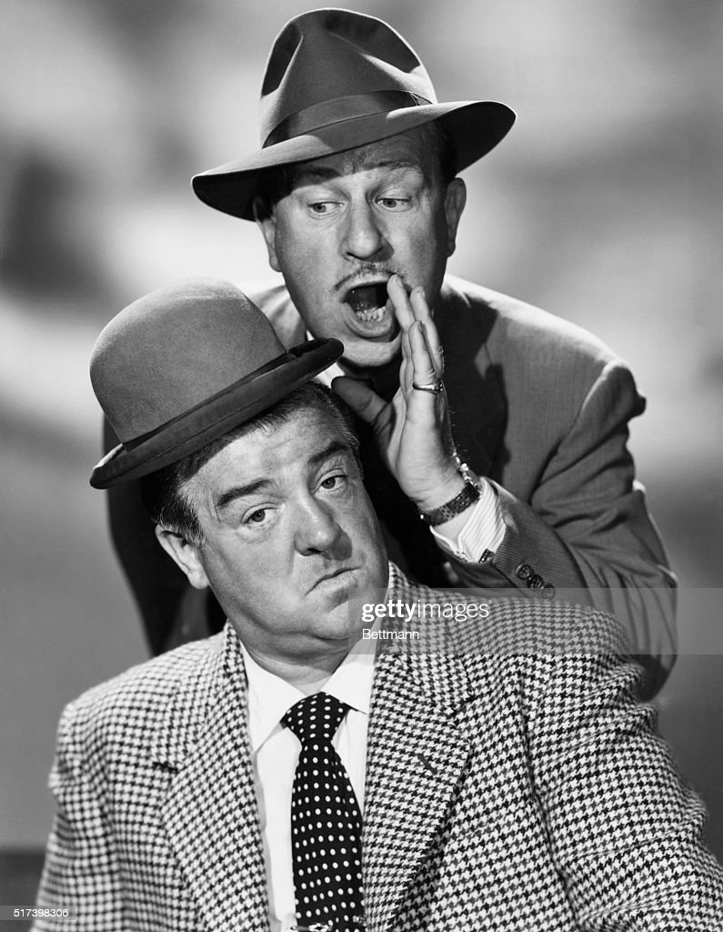 Publicity portrait of Abbott and Costello. Undated photograph.