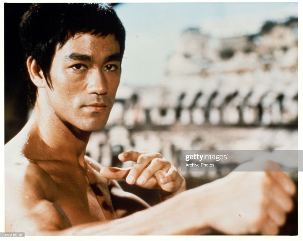 <a gi-track='captionPersonalityLinkClicked' href=/galleries/search?phrase=Bruce+Lee+-+Actor&family=editorial&specificpeople=453429 ng-click='$event.stopPropagation()'>Bruce Lee</a> in a martial arts position in a scene from the film 'Enter The Dragon', 1973.
