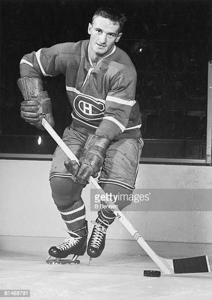 Publicity portrait of Canadian ice hockey player Marcel Bonin of the Montreal Canadiens late 1950s or early 1960s