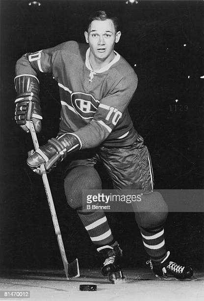 Publicity portrait of Canadian ice hockey player Ted Harris of the Montreal Canadiens 1960s