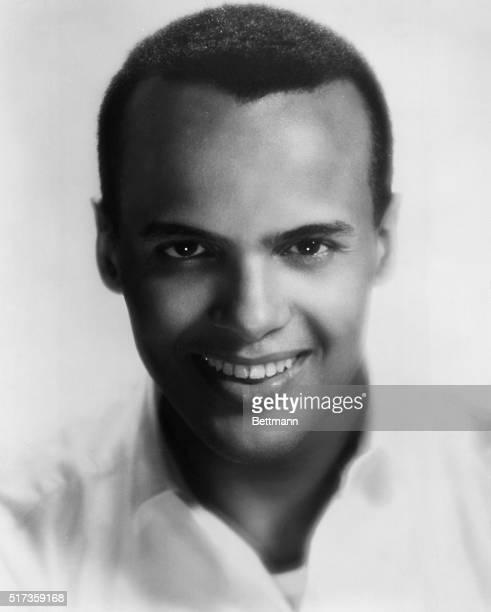Publicity portrait of Harry Belafonte He is shown closeup smiling Undated photograph