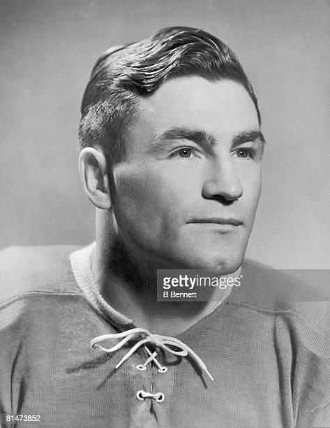 Publicity portraitof Canadian ice hockey player Ken Reardon of the Montreal Canadiens 1940s