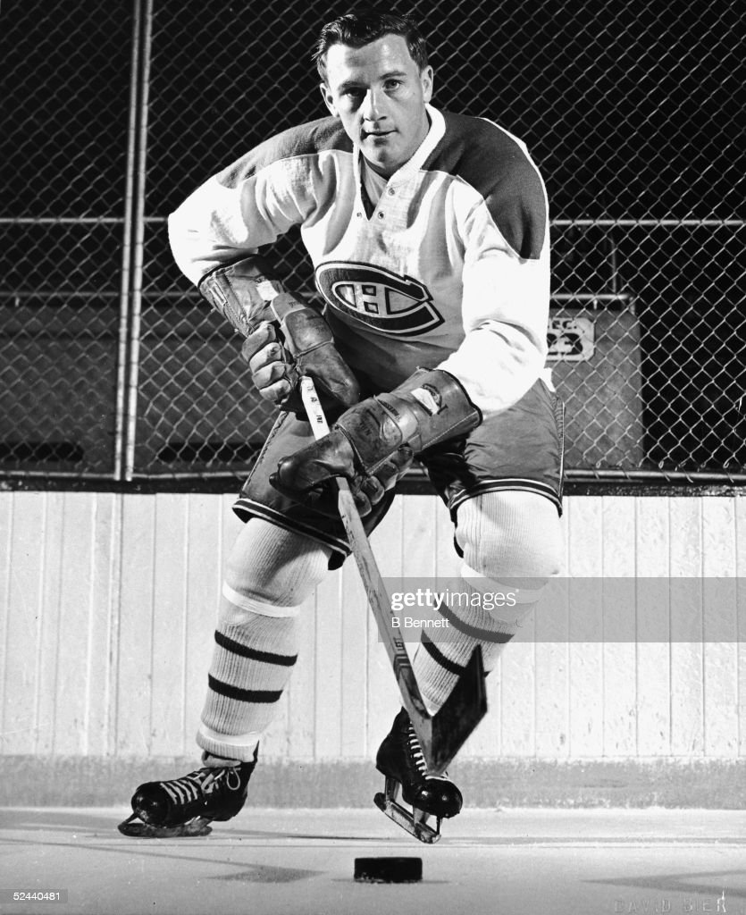 Publicity shot of Canadian hockey player Dickie Moore of the Montreal Canadiens early 1950s