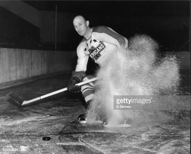 Publicity shot of Canadian hockey player Eddie Shore of the New York Americans 1939