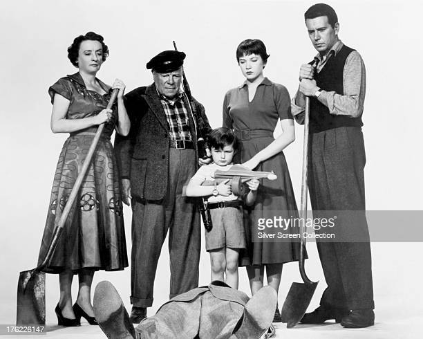 A publicity still for 'The Trouble With Harry' directed by Alfred Hitchcock 1955 Left to right Mildred Natwick as Miss Ivy Gravely Edmund Gwenn as...
