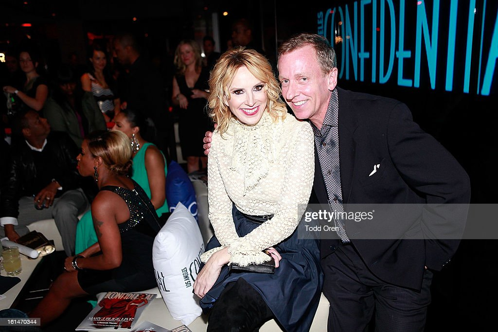 Publisher Alison Miller and Los Angeles Confidential Editor-in-Chief Spencer Beck pose at the Los Angeles Confidential Magazine and Mary J. Blige Celebrate THE GRAMMYS at Elevate Lounge on February 10, 2013 in Los Angeles, California.