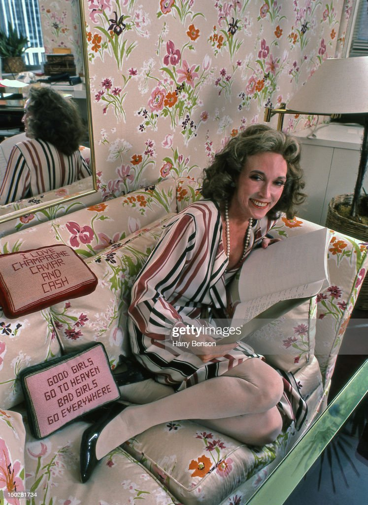 Publisher and author <a gi-track='captionPersonalityLinkClicked' href=/galleries/search?phrase=Helen+Gurley+Brown&family=editorial&specificpeople=215179 ng-click='$event.stopPropagation()'>Helen Gurley Brown</a> photographed in her office at Cosmopolitan in 1982 in New York City.